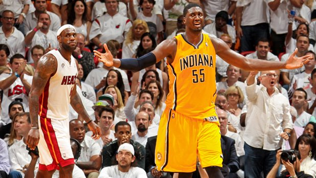 After LeBron James' last-second layup beats Pacers, Roy Hibbert vows not to sit quietly again