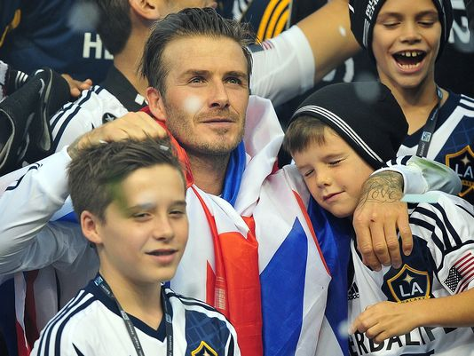 David Beckham retiring from pro soccer at the end of the season
