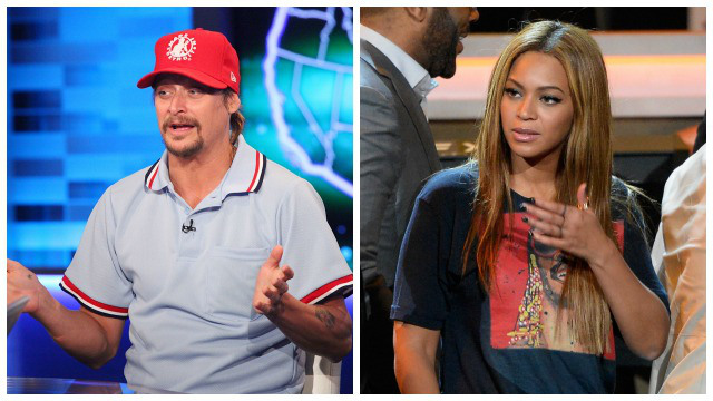 Left: Kid Rock and Beyonce (Getty Images)