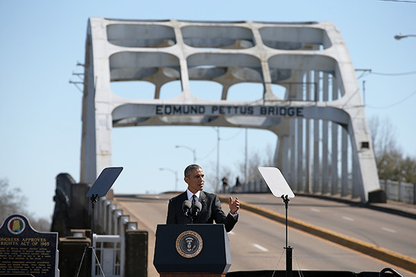 Obama Ed Pettus Bridge